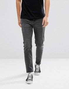 Read more about Asos design tapered jeans in washed black - washed black