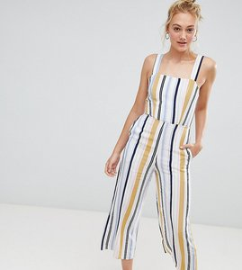 Read more about New look tall stripe jumpsuit - white pattern