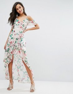 Read more about Miss selfridge printed ruffle maxi dress - multi