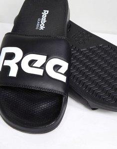 Read more about Reebok split sliders in black cn0735 - black