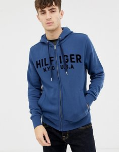Read more about Tommy hilfiger logo zip through hoodie
