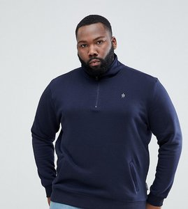 Read more about French connection plus half zip sweat - navy