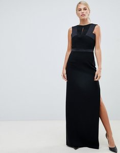 Read more about Forever unique structured satin dress with embellished detail - black