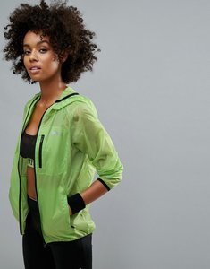 Read more about Slazenger running lightweight jacket - lime