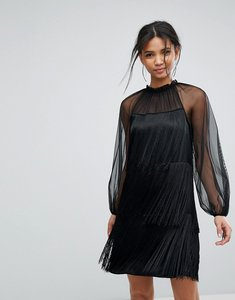 Read more about Tresophie tassle ruffle dress - black
