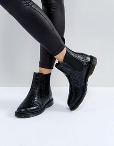 Read more about Dr martens kensington flora black croco chelsea boots - black new vibrance c