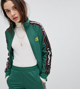 Read more about Umbro tracksuit jacket with taping co-ord - green