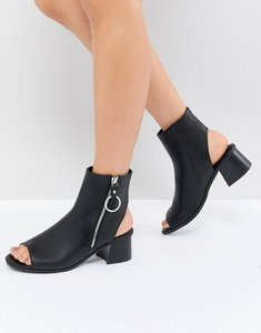 Read more about Asos design raven zip shoe boots - black