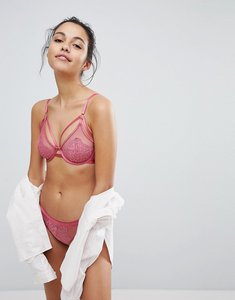 Read more about New look strappy wired bra - dark pink