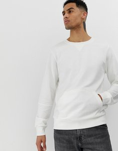 Read more about Another influence crew neck front pocket sweat - white