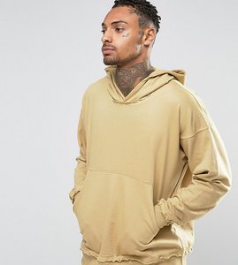 Read more about Other uk oversized hoodie with raw edges - stone