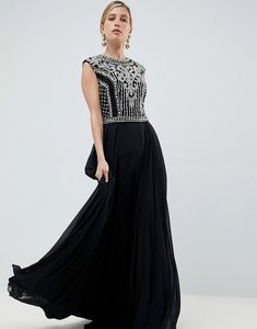Read more about Jovani heavily embellished maxi dress - black