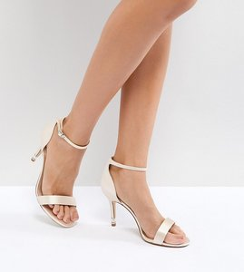 Read more about Dune london bridal exclusive wide fit two part heeled shoes - nude