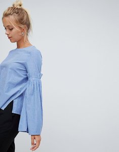 Read more about Glamorous stripe top - blue stripe cotton
