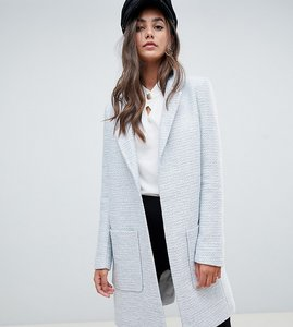Read more about Asos design tall slim coat in texture - grey