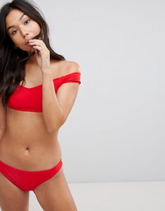 Read more about Le palm minimal mix and match solid bikini top - sold red