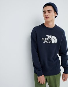 Read more about The north face drew peak crew neck sweat in navy - navy