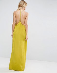 Read more about Asos halter strap back maxi dress - yellow