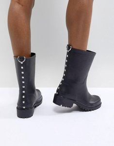 Read more about Asos design gravel studded wellies - black