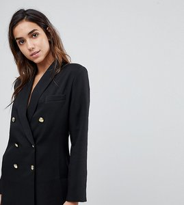 Read more about Missguided longline tailored blazer - black