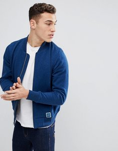 Read more about Hollister full zip sweat bomber in blue - indigo bomber