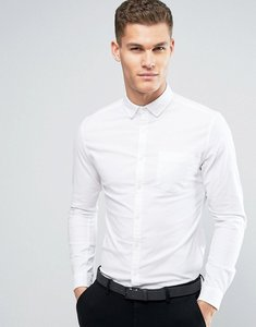 Read more about Asos super skinny casual oxford shirt in white - white