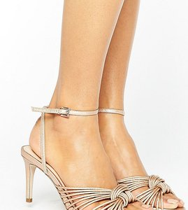 Read more about Office millie knot rose gold mid heeled sandals - rose gold