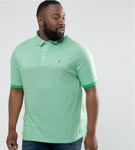 Read more about Tommy hilfiger plus boris polo slim fit flag logo in green - kelly green
