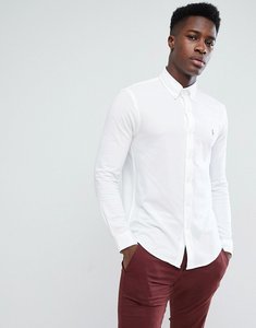 Read more about Polo ralph lauren slim fit pique shirt multi player stretch in white - white