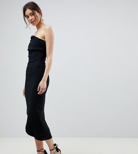 Read more about City goddess tall one shoulder dress with asymetric hem - black