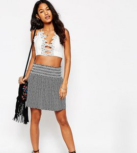 Read more about Asos petite printed mini skirt with shirring - multi