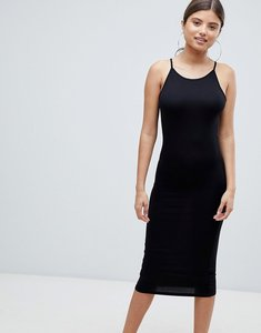 Read more about Missguided racer neck midi dress - black