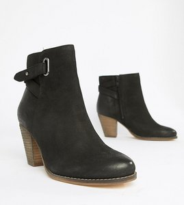 Read more about Carvela leather western heeled ankle boots - black