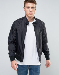Read more about French connection nylon lightweight harrington jacket - black