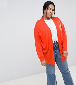 Read more about Asos design curve eco cardigan in oversize fine knit - tomato
