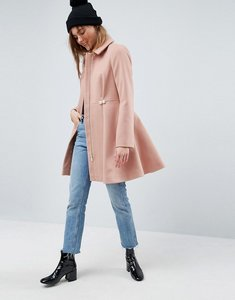 Read more about Asos pearl trim skater coat - pink