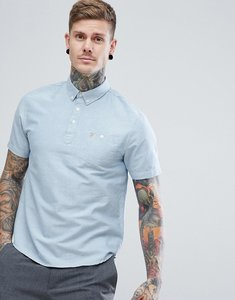 Read more about Farah brewer overhead polo shirt in blue - 413sapphire
