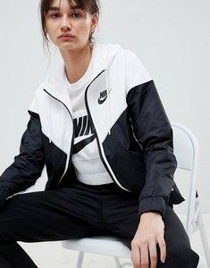 Read more about Nike colour block windbreaker jacket - black white black