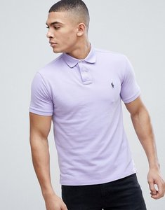 Read more about Polo ralph lauren slim fit pique polo in lilac - lilac