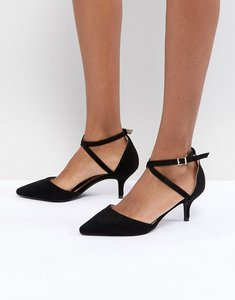 Read more about Raid lyla kitten heel court shoe - black suede