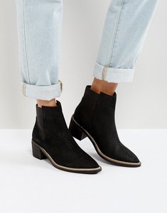 Read more about Park lane leather mid heel chelsea boots - black nubuck