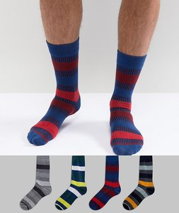 Read more about Jack jones stripe socks in 4 pack - multi