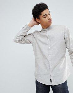 Read more about Threadbare cotton linen grandad long sleeve shirt - stone