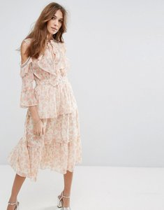 Read more about Miss selfridge floral printed ruffle dress - multi