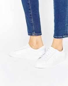 Read more about Fred perry white spencer leather trainers - white white unisex