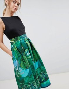 Read more about Closet london 2 in 1 midi dress - green