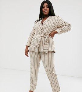 Read more about Unique21 hero plus straight leg trousers in tonal stripe co-ord