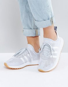 Read more about Adidas originals flb primeknit trainer in grey - grey