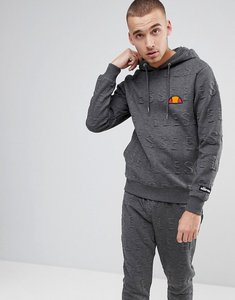 Read more about Ellesse hoodie with all over embossed logo in grey - grey