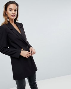 Read more about Asos tailored longline blazer - black